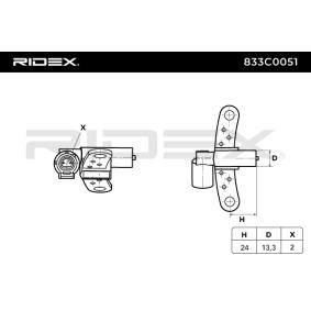 Scénic I (JA0/1_, FA0_) RIDEX Motorelektrik 833C0051