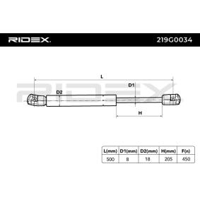 RIDEX Heckklappendämpfer / Gasfeder 1M6827550 für VW, AUDI, SKODA, SEAT bestellen
