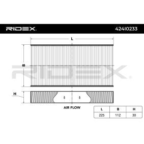 CIVIC VII Hatchback (EU, EP, EV) RIDEX Filtro antipolen 424I0233