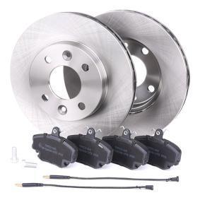 CLIO II (BB0/1/2_, CB0/1/2_) RIDEX Bremsscheiben und Klötze 3405B0060