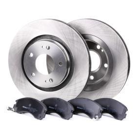 Bremsesett, skivebremser framaksel, Ø: 294mm, ventilert fra produsent RIDEX 3405B0065 opp til - 70% avslag!