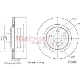 Bremsscheibe METZGER Art.No - 6110352 OEM: 4246P4 für FIAT, PEUGEOT, CITROЁN, LANCIA kaufen