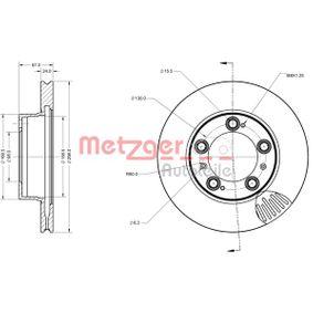 Bremsscheibe METZGER Art.No - 6110477 OEM: 98635140105 für VW, PORSCHE, LANCIA kaufen