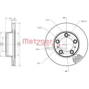 METZGER Bremsscheibe 98635140105 für VW, PORSCHE, LANCIA bestellen