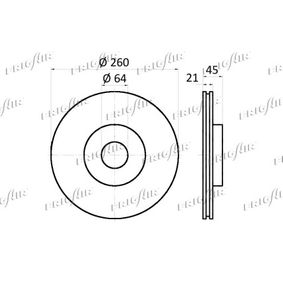 FRIGAIR Спирачен диск 45251SK7A00 за HONDA, LAND ROVER, ROVER, MG, ACURA купете