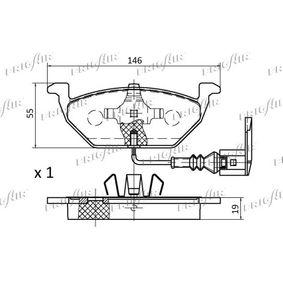 FRIGAIR Bremsbelagsatz, Scheibenbremse JZW698151 für VW, AUDI, SKODA, SEAT, SMART bestellen
