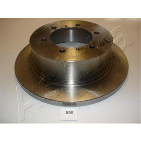 ASHIKA Kit dischi freno 61-05-598