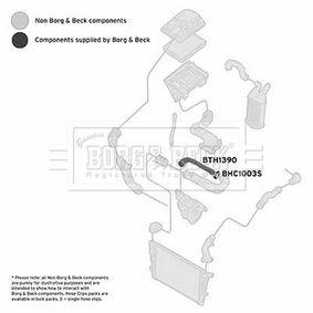 Ladeluftschlauch BORG & BECK Art.No - BTH1390 OEM: 835715 für OPEL, VAUXHALL kaufen