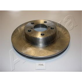 Bremsscheibe ASHIKA Art.No - 60-07-706 OEM: 26300AE090 für SUBARU, BEDFORD kaufen