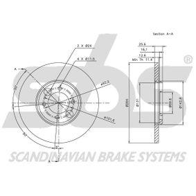 sbs Bremsscheibe C46113 für JAGUAR, DAIMLER bestellen