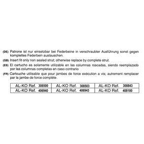 Stoßdämpfer AL-KO Art.No - 308500 OEM: 6K0413031 für VW, AUDI, FIAT, SKODA, SEAT kaufen
