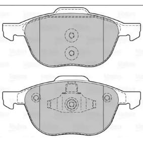 Bremsbelagsatz, Scheibenbremse VALEO Art.No - 601367 kaufen