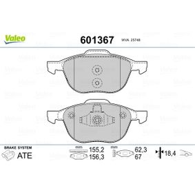 2188058 für FORD, Bremsbelagsatz, Scheibenbremse VALEO (601367) Online-Shop