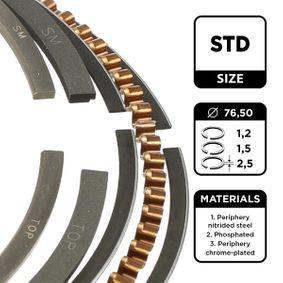 Kolbenringsatz ET ENGINETEAM Art.No - R1006100 OEM: 030198151F für VW, AUDI, SKODA, SEAT kaufen