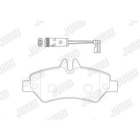 JURID Bremsbelagsatz, Scheibenbremse A0044206920 für VW, MERCEDES-BENZ bestellen