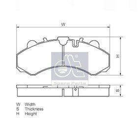 DT Bremsbelagsatz, Scheibenbremse 5001844748 für VW, RENAULT, NISSAN, IVECO, MAN bestellen