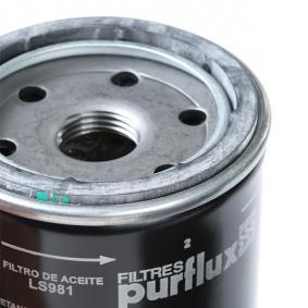 PURFLUX CHEVROLET AVEO Filtro de aceite (LS981)