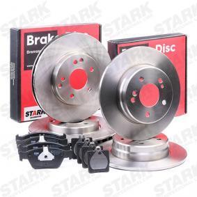 STARK SKBK-1090303 Bremsensatz, Scheibenbremse OEM - A004420022067 MERCEDES-BENZ, METZGER günstig