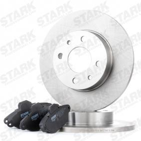 PANDA (169) STARK Brake pads and rotors kit SKBK-1090318
