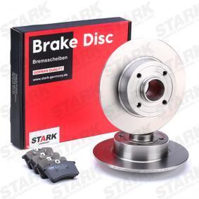 TWINGO II (CN0_) STARK Bremsscheiben und Klötze SKBK-1090327