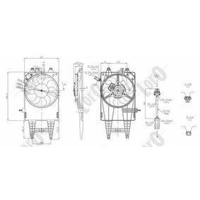 PUNTO (188) ABAKUS Cooling fan 016-014-0005