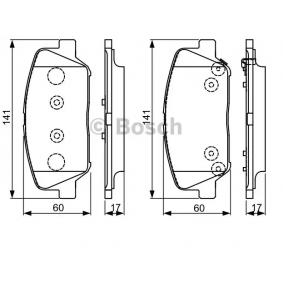 BOSCH Bremsbelagsatz, Scheibenbremse 58101A6A20 für OPEL, HYUNDAI, KIA bestellen