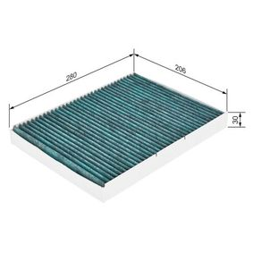 BOSCH Filter, Innenraumluft (0 986 628 509) niedriger Preis