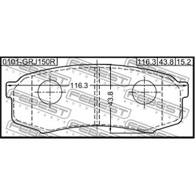 FEBEST Bremsbelagsatz, Scheibenbremse 4605A389 für TOYOTA, MITSUBISHI, SATURN bestellen