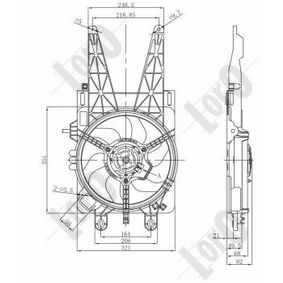Cooling fan assembly 016-014-0004-R ABAKUS