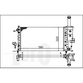 ABAKUS Radiator engine cooling 016-017-0022