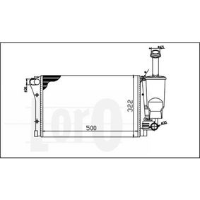 ABAKUS Radiator engine cooling 016-017-0023