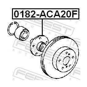 Wheel hub 0182-ACA20F FEBEST