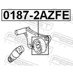 Tensioner pulley, v-ribbed belt 0187-2AZFE FEBEST
