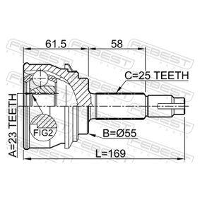 FEBEST Gelenk, Antriebswelle 3910060Y10 für NISSAN bestellen