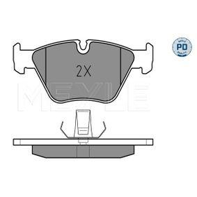 Bremsbelagsatz, Scheibenbremse MEYLE Art.No - 025 216 7720/PD OEM: 34111163953 für BMW kaufen