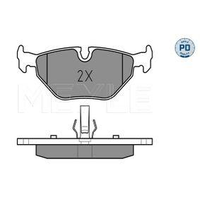 Bremsbelagsatz, Scheibenbremse MEYLE Art.No - 025 219 3417/PD OEM: 34212157574 für BMW, ROVER kaufen