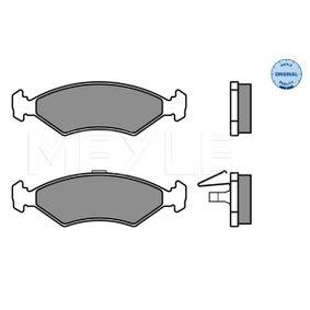 Bremsbelagsatz, Scheibenbremse MEYLE Art.No - 025 231 0315 OEM: 1010503 für FORD, HYUNDAI, MAZDA, CITROЁN, DAEWOO kaufen
