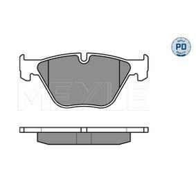 Bremsbelagsatz, Scheibenbremse MEYLE Art.No - 025 233 1320/PD OEM: 34112288858 für BMW kaufen