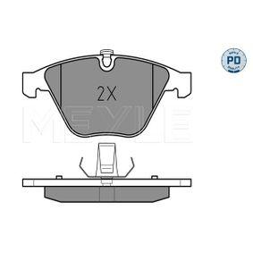 Bremsbelagsatz, Scheibenbremse MEYLE Art.No - 025 233 4720/PD OEM: 34116794916 für BMW kaufen