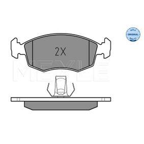 Bremsbelagsatz, Scheibenbremse MEYLE Art.No - 025 235 5218 OEM: 9949125 für FIAT, SEAT, ALFA ROMEO, LANCIA kaufen