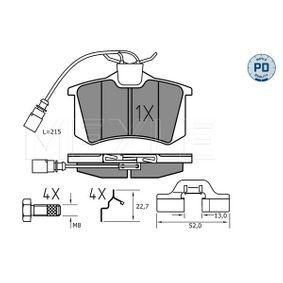Bremsbelagsatz, Scheibenbremse MEYLE Art.No - 025 235 5417/PD OEM: 1343513 für VW, FORD, SEAT, RENAULT TRUCKS, SATURN kaufen