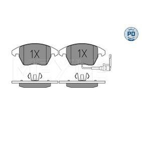 Kit de plaquettes de frein, frein à disque MEYLE Art.No - 025 235 8720/PD OEM: 3C0698151J pour VOLKSWAGEN, AUDI, SEAT, SKODA récuperer