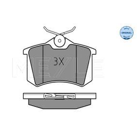 MEYLE Bremsbelagsatz, Scheibenbremse 6Q0698451 für VW, AUDI, SKODA, SEAT, HONDA bestellen
