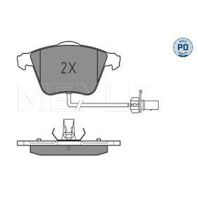 Bremsbelagsatz, Scheibenbremse MEYLE Art.No - 025 239 5020/PD OEM: 4F0698151B für VW, AUDI, SKODA, SEAT kaufen