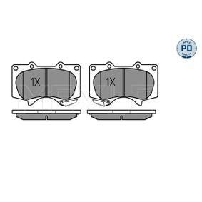 Bremsbelagsatz, Scheibenbremse MEYLE Art.No - 025 240 2417/PD OEM: 0446535290 für OPEL, TOYOTA, MITSUBISHI, LEXUS, WIESMANN kaufen