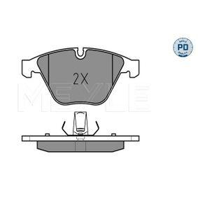 Bremsbelagsatz, Scheibenbremse MEYLE Art.No - 025 241 6120/PD OEM: 34116794917 für BMW, MINI kaufen