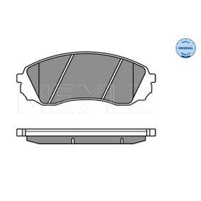 Bremsbelagsatz, Scheibenbremse MEYLE Art.No - 025 245 9717/W OEM: 581014DA00 für HYUNDAI, KIA kaufen