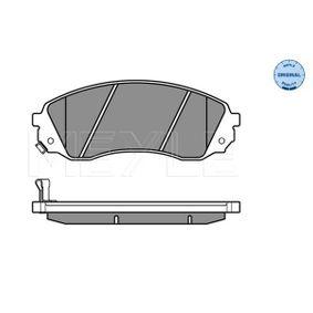 MEYLE Bremsbelagsatz, Scheibenbremse 581014DA00 für HYUNDAI, KIA bestellen