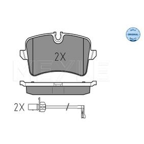 MEYLE Kit de plaquettes de frein, frein à disque 025 246 0617/W