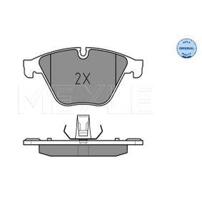 Bremsbelagsatz, Scheibenbremse MEYLE Art.No - 025 246 8820 OEM: 34116775314 für BMW, JAGUAR kaufen